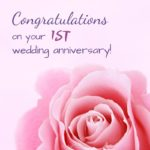 1st Wedding Anniversary Wishes Facebook