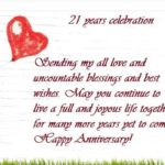 21 Wedding Anniversary Wishes Tumblr