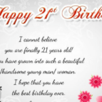 21st Birthday Messages Facebook