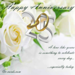 25th Wedding Anniversary Greetings