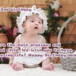 2nd Birthday Wishes For Baby Girl Pinterest