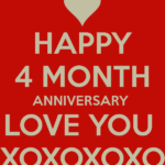 4 Month Anniversary Quotes Facebook