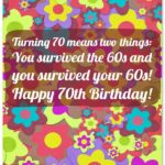 70th Birthday Wishes Facebook