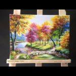 Acrylic landscape painting – 3 Techniques