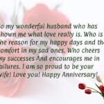 Anniversary Words For Husband Pinterest