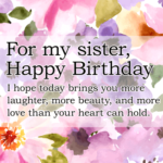 Birthday Greetings For Sister Facebook