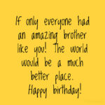 Birthday Message For Brother Pinterest