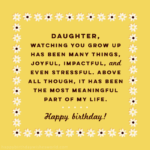 Birthday Message For Daughter Twitter
