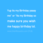 Birthday Quotes For Self Twitter
