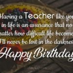 Birthday Wishes For Teacher Facebook