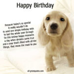 Dog Birthday Quotes Facebook