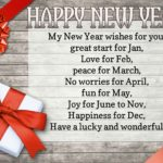 English Wishes For New Year