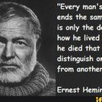 Ernest Hemingway Death Quotes Twitter