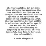 F Scott Fitzgerald She Was Beautiful Quote Facebook