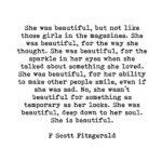 F Scott Fitzgerald She Was Beautiful Quote Facebook