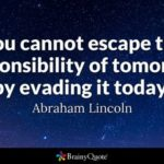 Famous Quotes About Responsibility Facebook