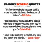 Famous Scorpio Quotes Pinterest