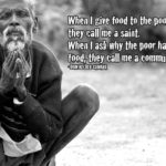 Giving Food To The Poor Quotes Pinterest