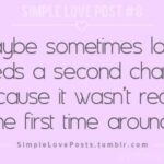 Giving Love A Second Chance Quotes Twitter