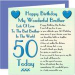 Happy 50th Birthday Brother Facebook