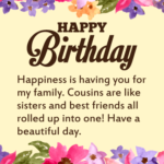 Happy Birthday Cousin Sister Facebook