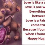 Happy Hug Day Picture Sms Pinterest