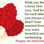 Ist Wedding Anniversary Wishes