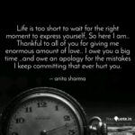 Life Is Too Short To Wait Twitter