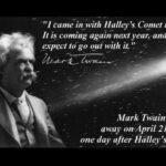 Mark Twain Halley's Comet Quote Tumblr