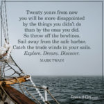 Mark Twain Quotes 20 Years Pinterest