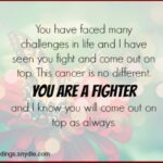 Positive Quotes For Someone With Cancer Pinterest