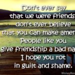 Sad Friendship Sms Facebook