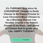 Short Tuesday Quotes Facebook