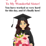 Sister Graduation Message Pinterest
