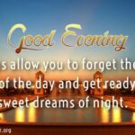 Sweet Good Evening Quotes Facebook