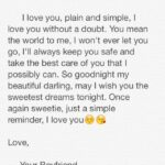Sweet Goodnight Text For Girlfriend Facebook