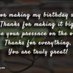 Thank You Message For Making Birthday Special Facebook