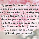 Thank You Message For Special Person