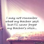Thank You My Teacher Quotes