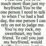 To My Boyfriend Quotes
