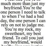 To My Boyfriend Quotes Facebook