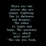 Two Wolves Saying Twitter