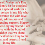 Valentines Message For Best Friend Pinterest
