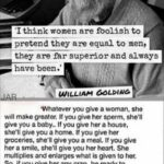William Golding Quote About Women Pinterest